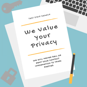 sell test strips privacy